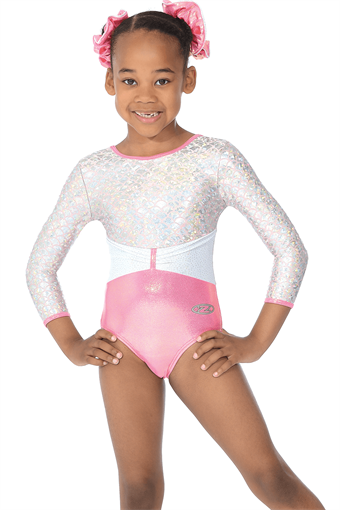 princess-girls-round-neck-3-4-sleeve-shine-gymnastic-leotard-p3562-105541_image